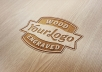 engrave your logo or text on hardwood floor