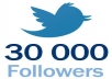 add 30,000+ twitter followers[Stay] to your twitter in 24 hours,dont lost followers