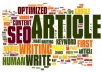 write one article and approved it in 10 top article directory