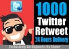 Get 1000 Retweet And 200 Favorive In Your Any Twitter Tweet