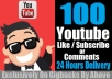 Get 100 Youtube Like Or 100 Subscribe Or 40 Comments In Your Video