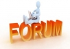 Program Sign Up automatically to Forums