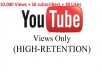 give 10000 Hight Retention views+ 50 subscribers + 30 likes