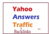 Give you 15 Yahoo answers Backlinks from me level 3 & 2 accounts with one Best Answer