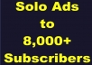 Sell Clicks Via Solo Ads From My Active 8000 EMAIL List
