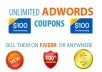 show you trick to generate unlimited $100 adwords coupons