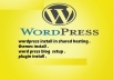 setup your WordPress in shared hosting site