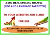 Provide 2000 Geographical And Language Targeted TRAFFIC +Free 600 Backlinks To Your Website Or Blog
