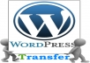 move your WordPress site to another server
