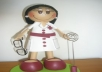 Handmade 1 Custom NURSE Fofucha Doll or any other Job or Profession [Physical Product]