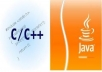 code your Java or C++ homework assignment