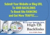 Create 4000+ BACKLINKS To Your Website and Ping Them