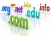 register any new .COM / .NET / .ORG / .INFO domain for you