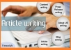 write Unique And SEO Optimize Article up to 800 Words