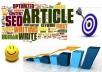 write SEO optimized articles for websites upto 500 words