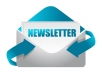 Design Your Product or Services eNewsletter and send to 500 emails