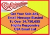 get Your Solo Ads, Email Message Blasted To 34,750,655 Responsive USA Email List