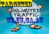 provide 1000  eu,ca,au, US Targeted TRAFFIC