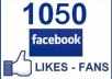give 1050++ permanent facebook fanpage or Photo or Post likes