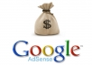 Share Google adsense account creation method