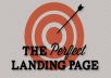 create a landing page for your autoreponder