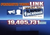 promote Any LINK To Over 19million Facebook Active Users