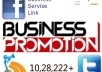 advertise your Busines,Link,Product Share in my Facebook and Twitter 10,28,222 M