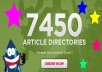 spin and submit your article to 7400 Article Directories Get 500 Google Backlinks
