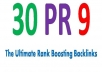 Create manually 30 PR9 SEO High Pr Backlinks Best Quality Google dofollow edu links