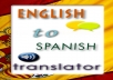 translate documents from English to Spanish (visa versa)