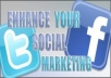 give 200 facebook website shares + 200 tweets to your website