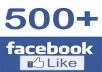 give you 500+ Real facebook Photo or Post or Fanpage likes with 48 to 72 hours
