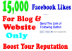 add 15,000+ Facebook Website likes to website or Blog within 72 hours