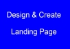create a nice Landing Page for your wordpress or any website