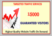 Guaranteed 15000+ Real TRAFFIC to your Site