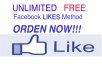 teach you how to get unlimited free Facebook likes