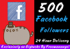 send 500 High Quality Facebook Followers In Your Profile
