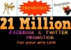 share your any LINK to 21,000,000 Users on Facebook,Twitter,Google