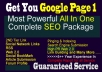 Get your Website on 1st PAGE Google with my best Inclusive Killer SEO campaign ,please read Carefully before order