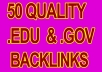 Submit manually 50 edu and gov backlink + RSS + Ping
