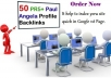 create 50 PR9 to PR5 paul angela profile backlinks
