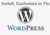 install, customize or fix WordPress