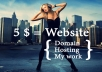 make you a website (domain and hosting included in price) up to 3 pages, with gallery of photos (up to 3 photos) processed in photoshop