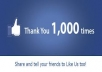 provide you 1000+ Real and active facebook fanpage likes (free 500 likes for first 10 orders)