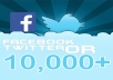 provide you 10,000 HQ Twitter OR Facebook Followers ★CHEAP OFFER★