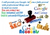provide you Google Ad sense + Blogs + Gmail accounts