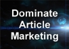 show you how to Outsource Your Articles cheaply and effectively. Dominate Article Marketing!
