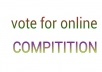 collect 20 real vote for you for any online competition