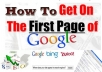 Give You Exclusive Tips To Get Any Website LISTED on the First Page of Search Engines