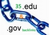 manually submit 40 EdU and GoV profile backlinks